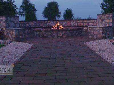 Feuerstelle-Garten