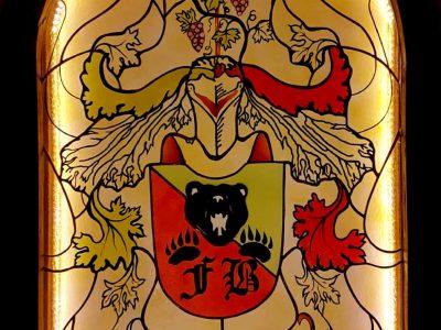 Wappen-Glas